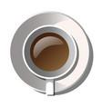 white mug of coffee with saucer vector image