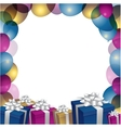 a Happy Birthday Greeting Card vector image vector image