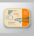 abstract fish aluminium container vector image