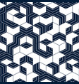 abstract geometric pattern with blue lines vector image vector image