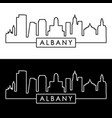 albany skyline linear style editable file vector image vector image