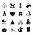 Baby simple icon set vector image vector image