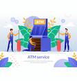 bank atm repair service poster template