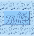 best father hat glasses and mustache pattern vector image vector image