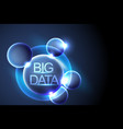 big data and galaxydigital communicationconcept vector image