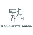 blockchain technology line icon vector image vector image