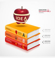 books info graphic vector image vector image