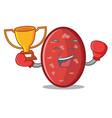 boxing winner salami mascot cartoon style vector image vector image