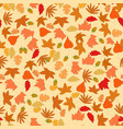 brown spring summer maple leave vector image vector image