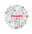 business and finance icons 2 vector image vector image