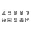 business icons set 5 vector image vector image