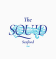 calamary seafood abstract sign symbol vector image vector image