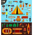 Camping equipment and tools vector image