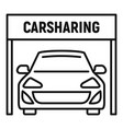 car sharing icon outline style vector image vector image