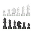 chess figures strategy game symbols pawn horse vector image vector image