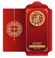 chinese new year 2020 money red envelop vertical vector image