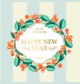 christmas mistletoe wreath over the blue tile vector image vector image