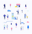 citizens - flat design style set of isolated vector image vector image