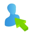 Click avatar isometric 3d icon vector image
