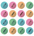 collection of flat school pencil icons vector image