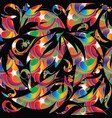 colorful abstract floral seamless pattern vector image