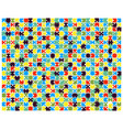 colorful shiny puzzle vector image vector image