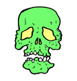 comic cartoon skull vector image vector image