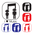 Creative music note sign icon vector image vector image