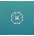 cupcake web icon design vector image vector image