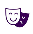 Drama theatre masks icon