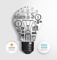 Elements are small icons Finance make light bulb vector image vector image