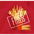 fast food with fried potatoes vector image