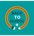 flat icon on background Back to school pencil vector image