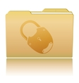 Folder with padlock vector image vector image