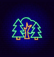 forest neon sign vector image vector image