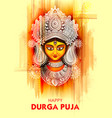 Goddess durga face in happy durga puja subh