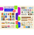 Great city map creator House constructor House vector image vector image
