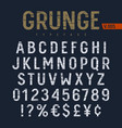 grunge font 007 vector image vector image