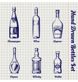 Hand drawn bottles sketch set vector image vector image
