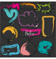 hand drawn colorful bubbles set vector image