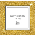 Happy Birthday greeting card with ribbons and line vector image vector image