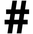 Hashtag Icon vector image vector image