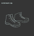 hiking boots icon line element vector image