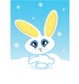 holiday bunny vector image vector image