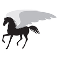 horse wing vector image