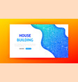 house building landing page vector image vector image