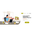 indian businesswoman using laptop working process vector image
