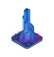 isometric image augmented reality for architects vector image vector image