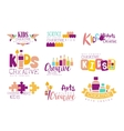 Kids Creative And Science Class Template vector image vector image