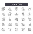 lab icons line icons for web and mobile design vector image vector image